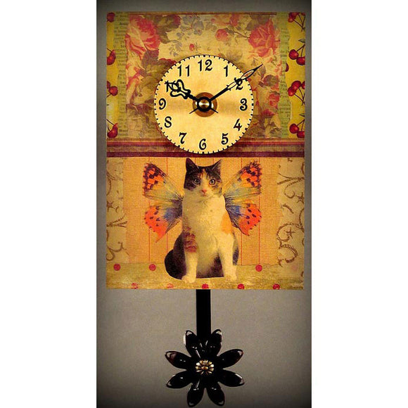 Duane Scherer Kitty Clock S42 Artistic Designer Clocks