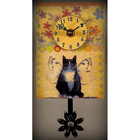 Duane Scherer Kitty Clock S43 Artistic Designer Clocks