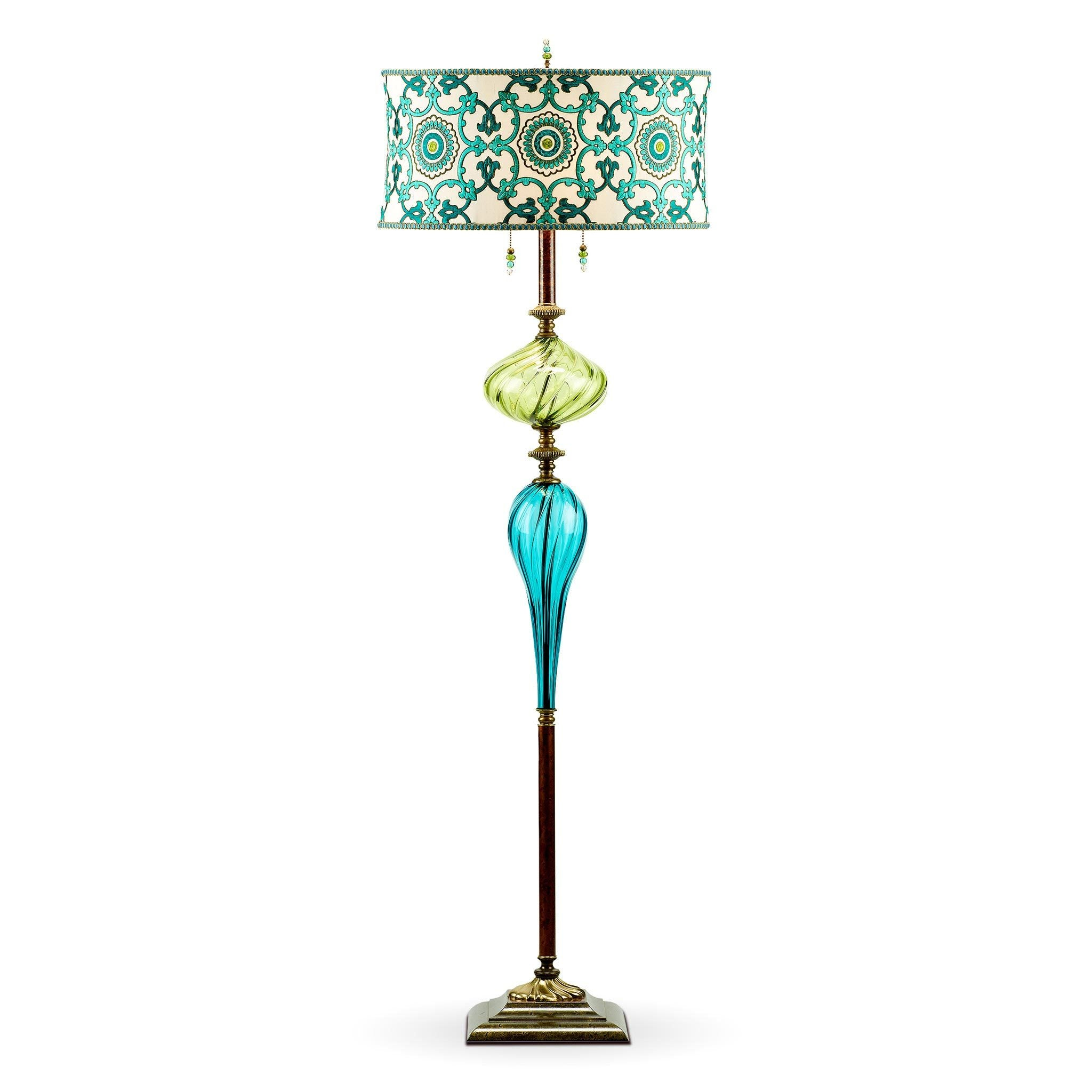 Kinzig design ed floor lamp f141ag177 colors turquoise lime green kinzig design ed floor lamp f141ag177 colors turquoise lime green blue and cream blown glass aloadofball Images