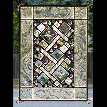 glass window panels hinged patio door edel byrne clear border geometric stained glass panel artistic artisan designer stain window panels