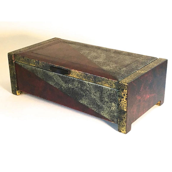 Edward Jacob Painted Accessory Box Artistic Artisan Wooden Boxes