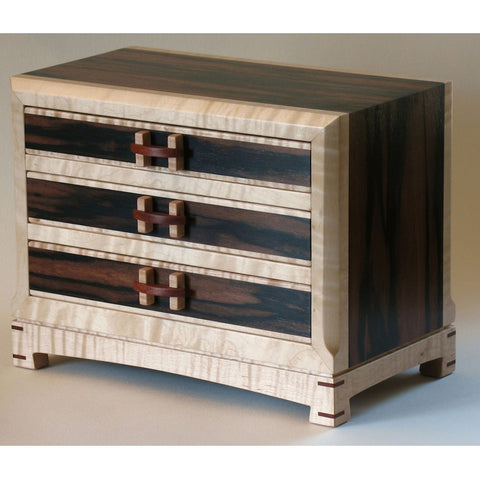 Edward Jacob Three Drawer Chest Artistic Artisan Wooden Chests