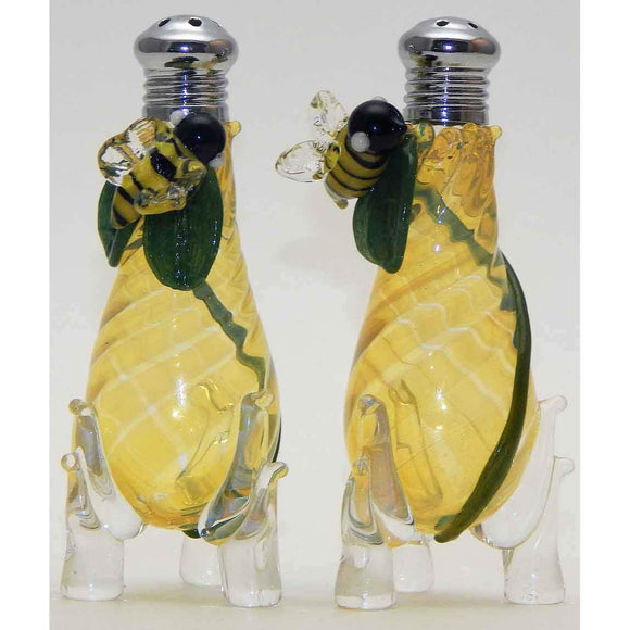 Four Sisters Art Glass Bees Blown Glass Salt and Pepper Shaker 273 Artistic Handblown Art Glass
