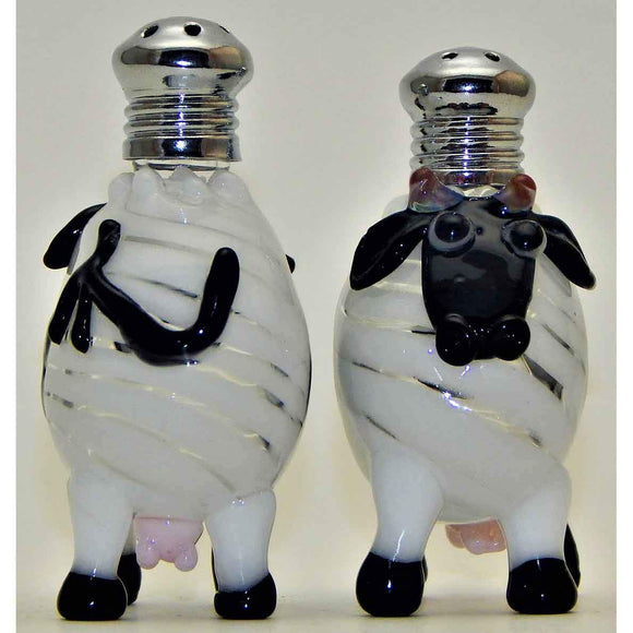 Four Sisters Art Glass Cows Blown Glass Salt and Pepper Shaker 260 Artistic Handblown Art Glass