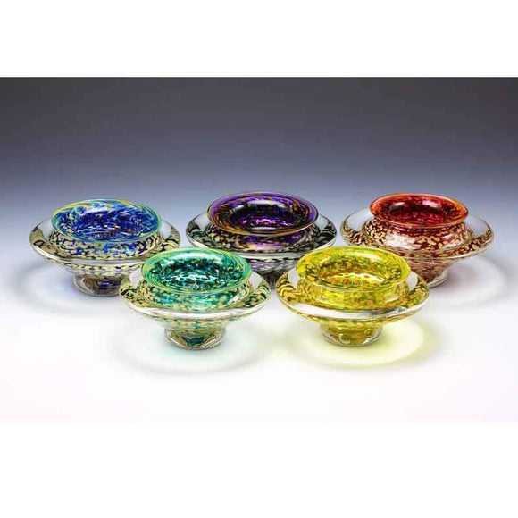 Gartner Blade Ikebana Ikebana Flower Bowl Samples Hand Blown American Art Glass