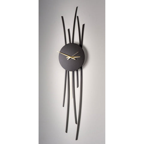 Girardini Design Bronze Willow Clock Hangs Vertically or Horizontally Artistic Artisan Designer Wall Clock