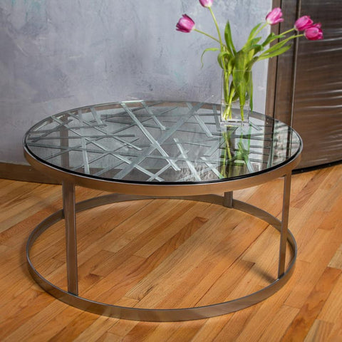 Contrails Cocktail Table by Girardini Design