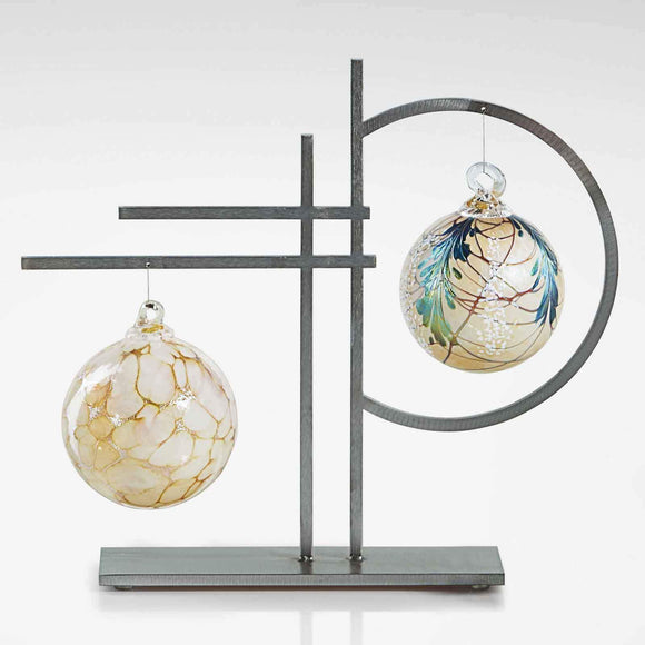 Girardini Design Double Ornament Display Handmade Artistic Artisan Designer Ornament Displays