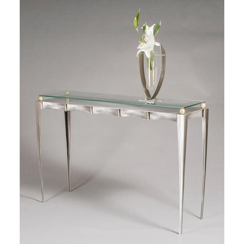 Classic Metal Console Table by Girardini Design