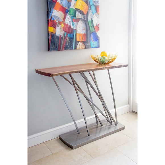 Girardini Design Tables Windswept Entry Table, Artistic Artisan Designer Tables