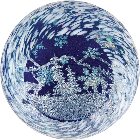 Glass Eye Studio Winter Wonderland Seasonal Series Paperweight 620 Artistic Artisan Handblown Art Glass Paperweights