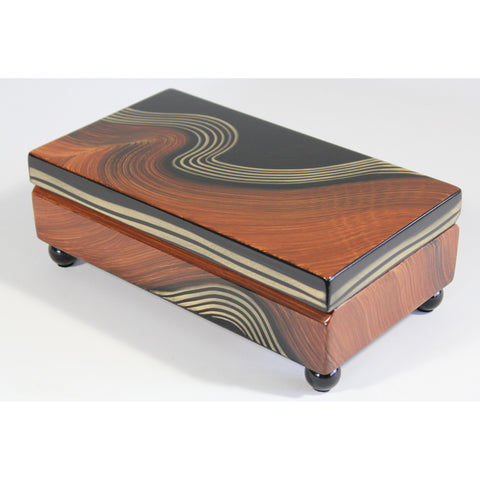 Burl Swirl Rectangular  Box by Grant Noren