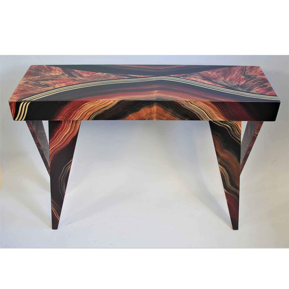 Grant Noren Console Table Dark Vienna 6 Artistic Artisan Designer Tables