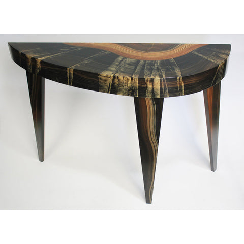 Dark Flame French Curve Console by Grant Noren
