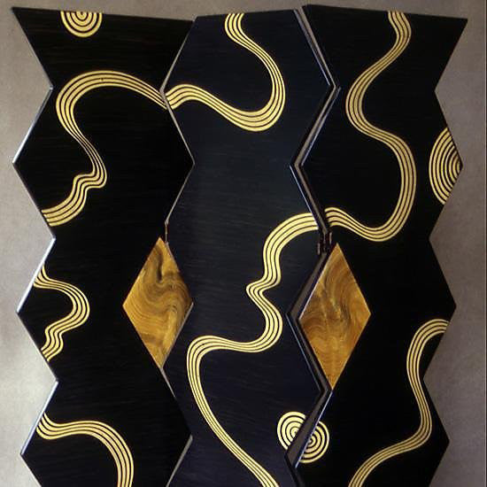Grant Noren Kyoto Folding Screen, Artistic Artisan Designer Folding Screens
