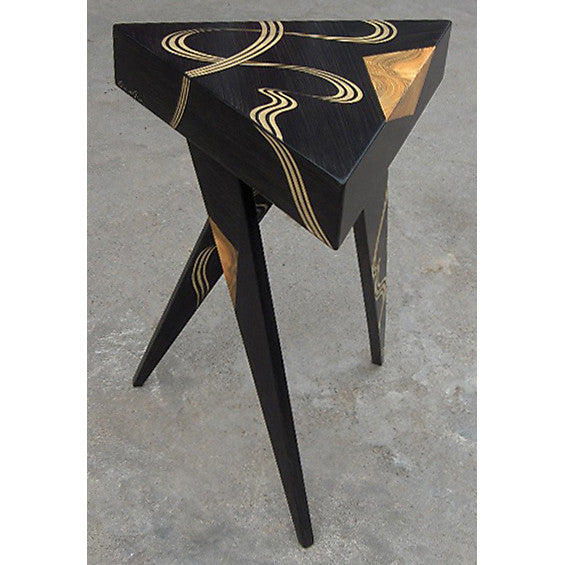 Grant Noren Kyoto Tri Twist Leg Table, Artistic Artisan Designer Side Tables