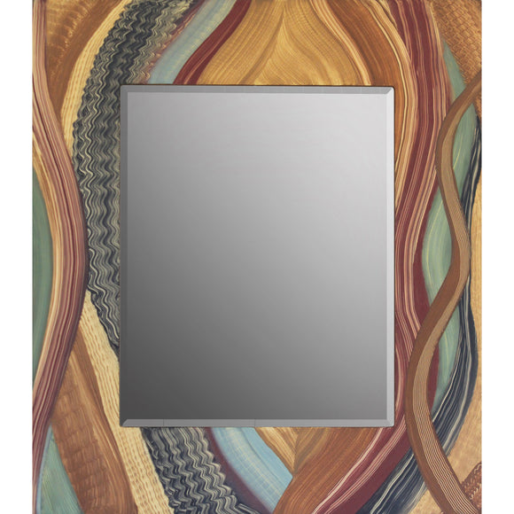 Grant Noren Leaves Of Grass Wood Mirror, Artistic Artisan Designer Mirrors