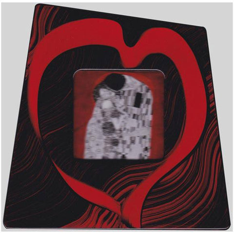 Grant Noren Painted Faux Finish Wood Heart Photo Frame 61Hrt Artistic Artisan Designer Photo Frames