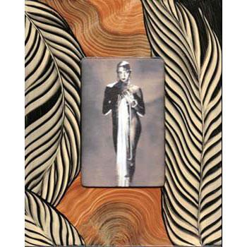 Grant Noren Painted Faux Finish Wood Photo Frame A15L14 Artistic Artisan Designer Photo Frames