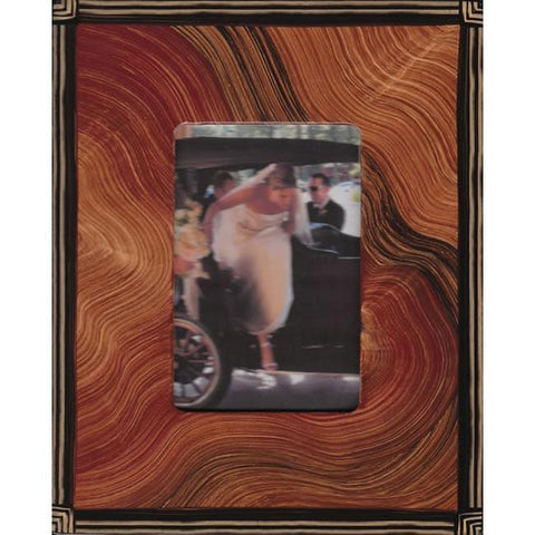 Grant Noren Painted Faux Finish Wood Photo Frame AFl159 Artistic Artisan Designer Photo Frames