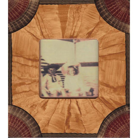 Grant Noren Painted Faux Finish Wood Photo Frame C11RS19 Artistic Artisan Designer Photo Frames