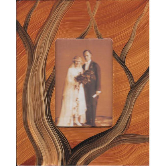 Grant Noren Painted Faux Finish Wood Photo Frame Tree11 Artistic Artisan Designer Photo Frames