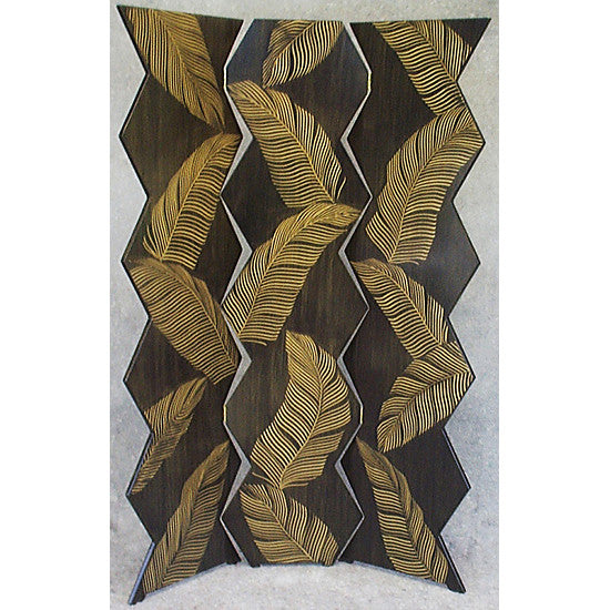 Grant Noren Palm Folding Screen, Artistic Artisan Designer Folding Screens
