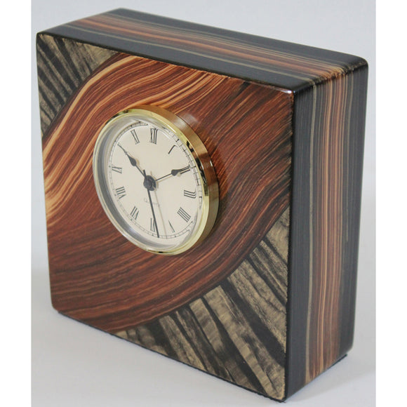 Grant Noren River Tiger Table Clock, Artistic Artisan Designer Clocks