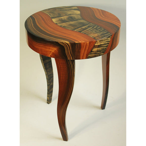 Grant Noren Tiger River Round Table, Artistic Artisan Designer Tables