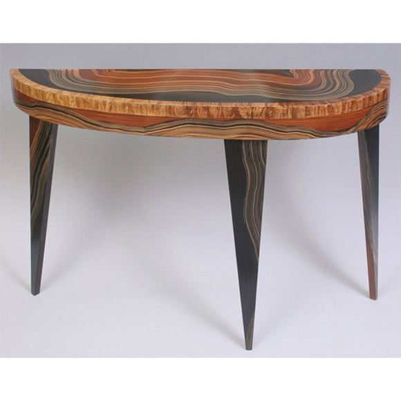 Grant Noren Yucatan French Curve Console Table, Artistic Artisan Designer Tables