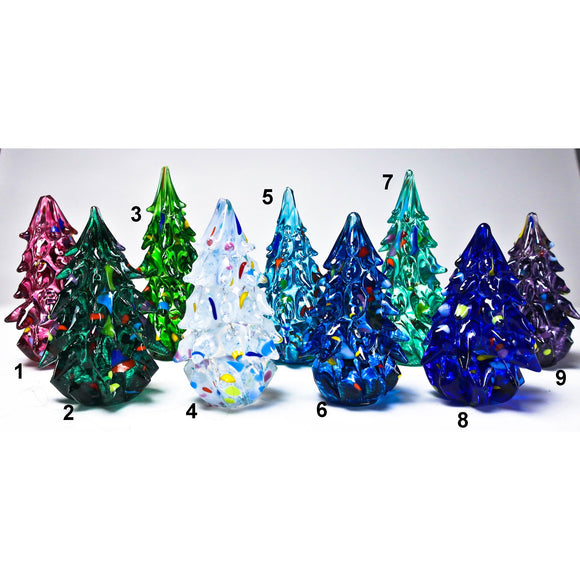 Grateful Gathers Glass By Danny Polk Jr Decorated Trees Artisan Crafted Hand Blown American Art Glass