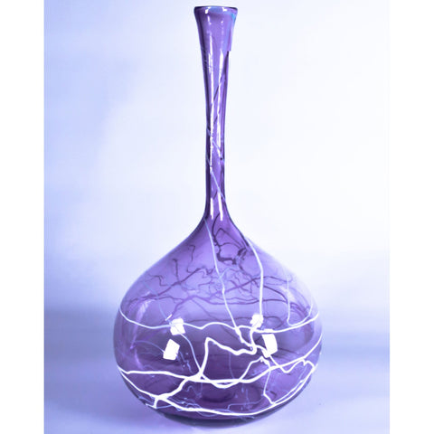 Grateful Gathers Glass By Danny Polk Jr Large Lightning Vase 7 Artisan Crafted Hand Blown American Art Glass