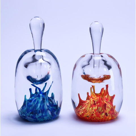 Grateful Gathers Glass By Danny Polk Jr Perfume Bottle Artisan Crafted Hand Blown American Art Glass