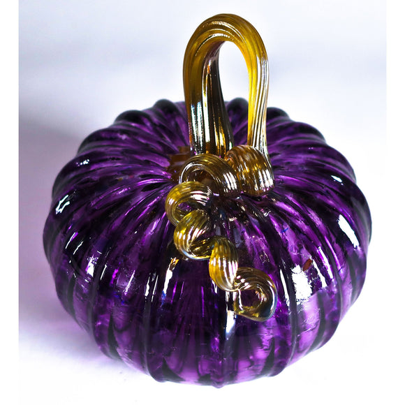 Grateful Gathers Glass By Danny Polk Jr Pumpkin 10 Artisan Crafted Hand Blown American Art Glass