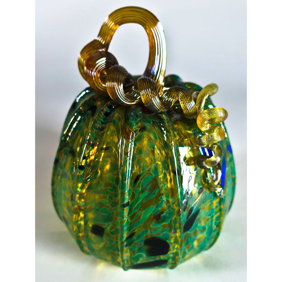 Grateful Gathers Glass By Danny Polk Jr Pumpkin 12 Artisan Crafted Hand Blown American Art Glass