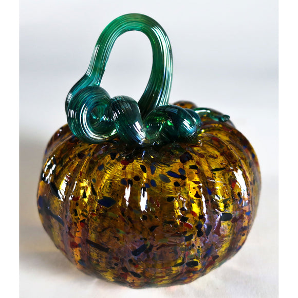Grateful Gathers Glass By Danny Polk Jr Pumpkin 14 Artisan Crafted Hand Blown American Art Glass