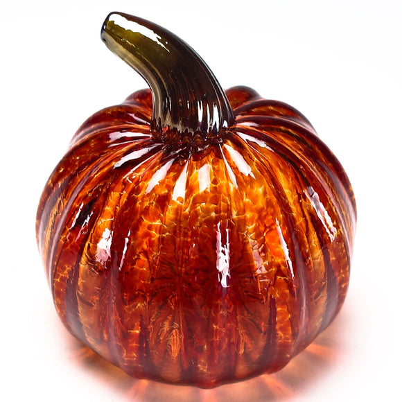Grateful Gathers Glass By Danny Polk Jr Pumpkin 6 Artisan Crafted Hand Blown American Art Glass