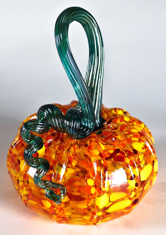 Grateful Gathers Glass By Danny Polk Jr Pumpkin 9 Artisan Crafted Hand Blown American Art Glass