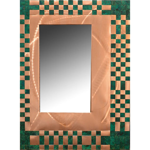 Heffernan Art Mirror Cash is King Artistic Handwoven and Painted Copper Mirrors
