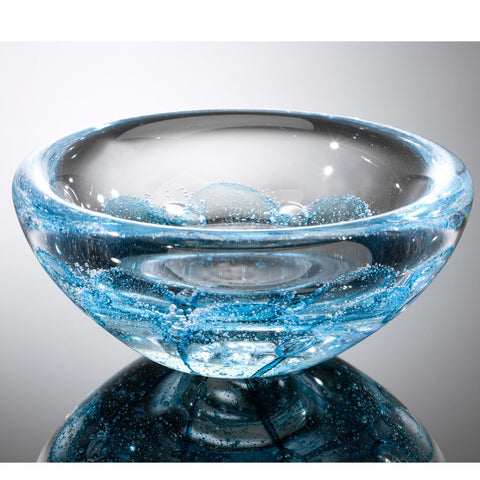 Hot Glass Alley Jake Pfeifer Shell Swedish Ocean Blue Bowl Artistic Handblown Glass