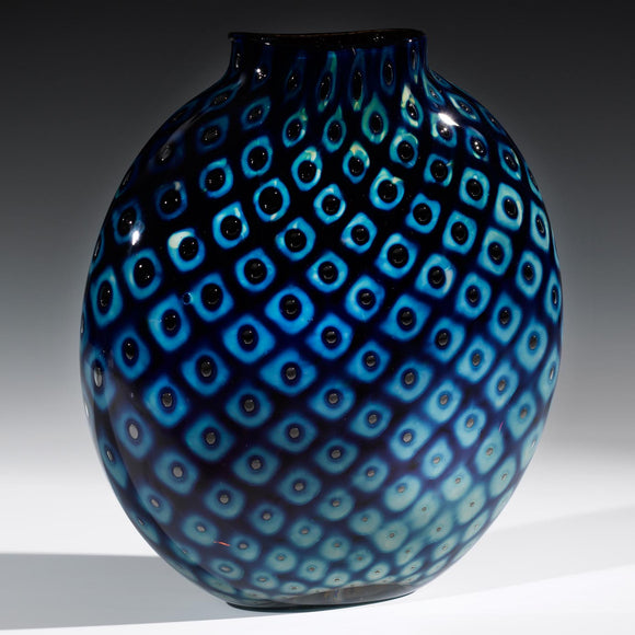 Hot Glass Alley Jake Pfeifer Treasure Pill Pineapple Vase Artistic Handblown Glass