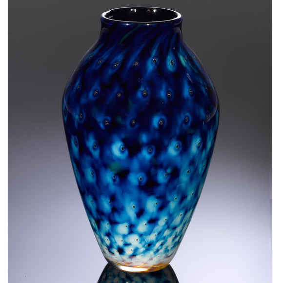 Hot Glass Alley Jake Pfeifer Treasure Reverse Amphora Pineapple Vase Artistic Handblown Glass