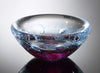 Hot Glass Alley Jake Pfeifer Foil Swedish Pink Bowl Artistic Handblown Glass
