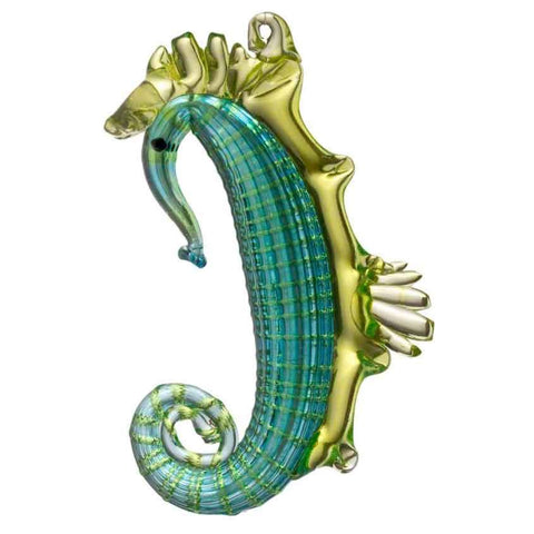 Hudson Glass Hanging Seahorse 7006 Artistic Artisan Handcrafted Blown Glass