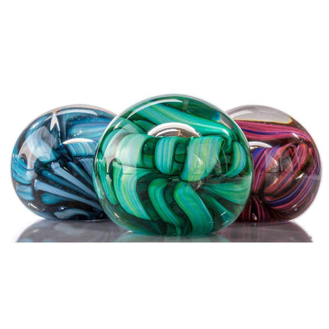 Hudson Glass Ribbon Paperweight 7014R Artistic Artisan Handcrafted Blown Glass