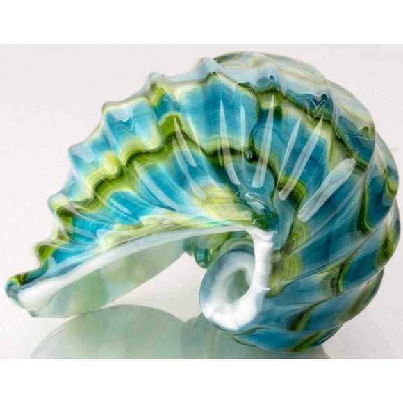 Hudson Glass Seashell Artistic Artisan Handcrafted Blown Glass