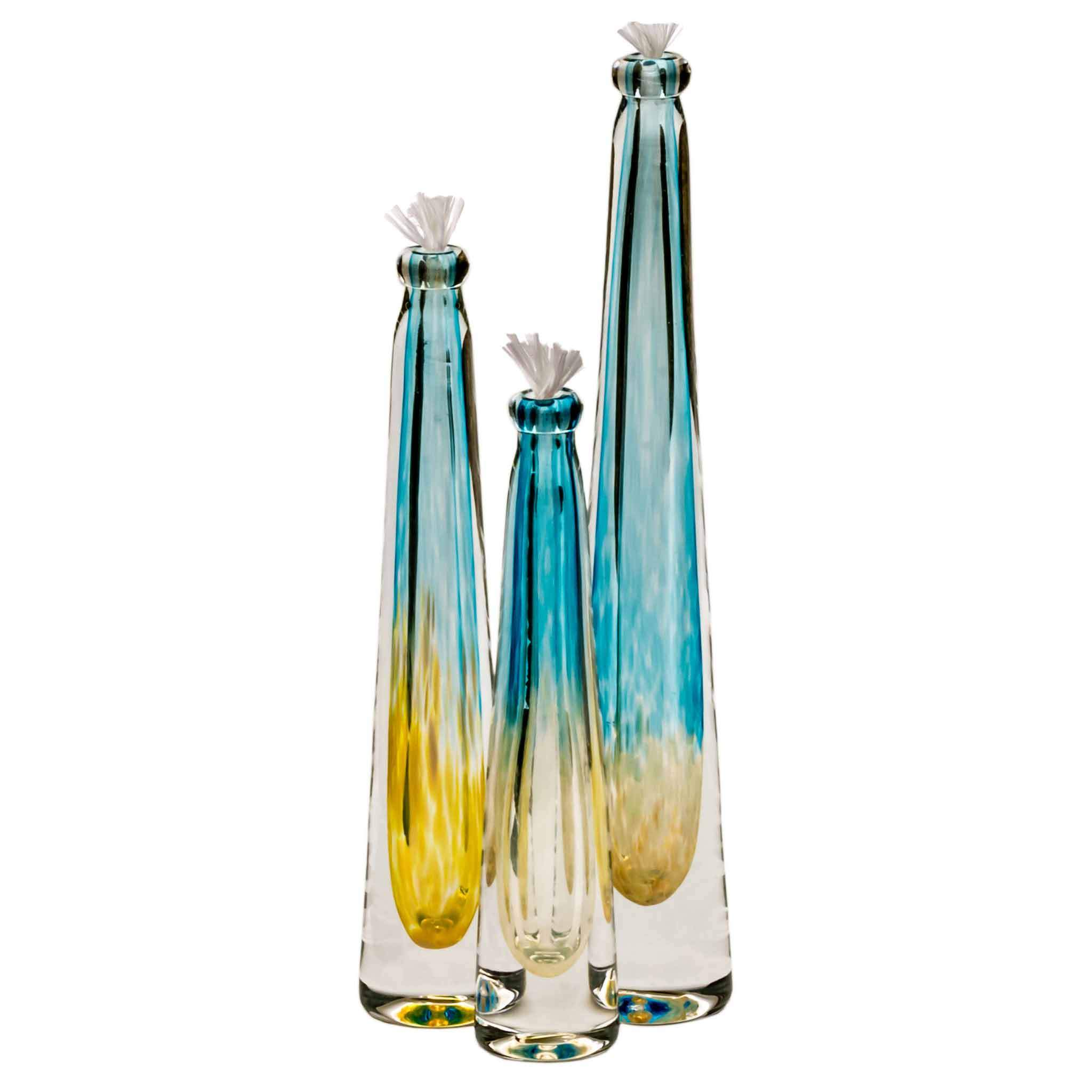Hudson Glass Two Tone Oil Lamp 7001 3 Artistic Artisan Handcrafted