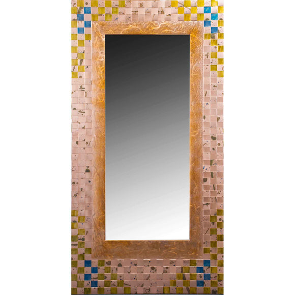 Jean and Tom Heffernan Art Mirror Bluebells Artstic Handwoven Copper Mirrors