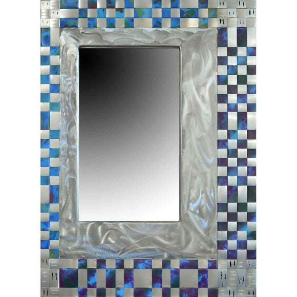 Jean and Tom Heffernan Art Mirror Soul Mate Artistic Handwoven Steel Mirrors