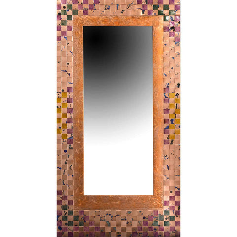 Jean and Tom Heffernan Art Mirror Wine and Cheese Artistic Handwoven Copper Mirrors